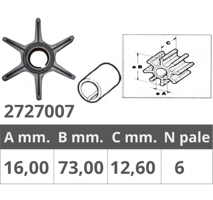 Finnord-FNI2727007-GIRANTE MERCURY 2/4T 18-50 HP-20