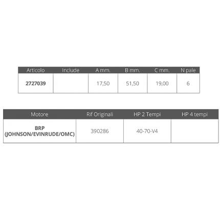 Finnord-FNI2727039-GIRANTE JOHNSON/EV. 2T 40-70 HP V 4-20