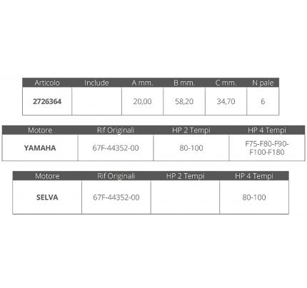 Finnord-FNI2726364-GIRANTE YAMAHA/SELVA 4T 80-100 HP-20