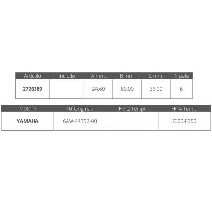 Finnord-FNI2726389-GIRANTE YAMAHA 4T F300-350-20