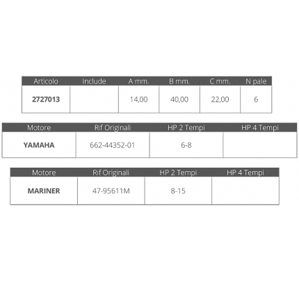 Finnord-FNI2727013-GIRANTE YAMAHA-MARINER 2T 6-15 HP-20