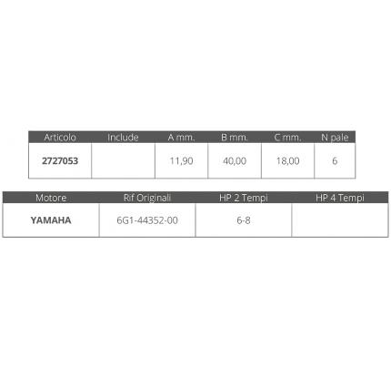 Finnord-FNI2727053-GIRANTE YAMAHA 2T 6-8 HP-20