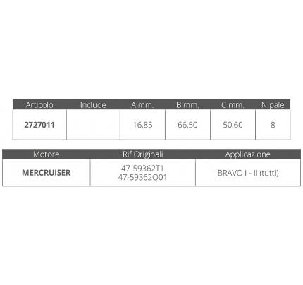 Finnord-FNI2727011-GIRANTE MERCRUISER BRAVO I-II-20