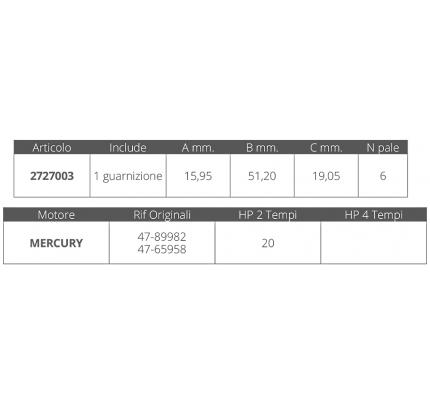 Finnord-FNI2727003-GIRANTE MERCURY 2T 20 HP-20
