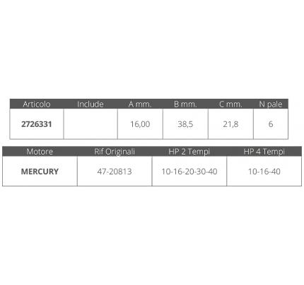 Finnord-FNI2726331-GIRANTE MERCURY R.O.47-20813-20