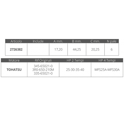 Finnord-FNI2726382-GIRANTE TOHATSU 2T 25-30 HP-20