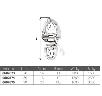Wichard-FNI0602673-MOSCHETTONE PER SPINNAKER MM 70-20