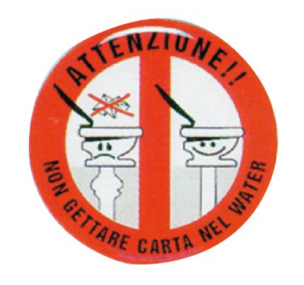 Erregrafica-FNI5252179-DIVIETO DI GETTARE CARTA NEL WC IN RILIEVO Ø MM. 80-20