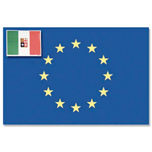 Adria Bandiere-FNI5252132-BANDIERA EUROPA+ITALIA CM.20X30-30