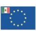 Adria Bandiere-FNI5252132-BANDIERA EUROPA+ITALIA CM.20X30-00
